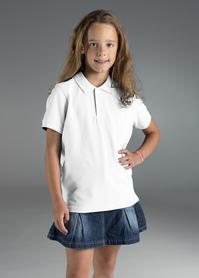koszulka, polo, promostars, kid, z nadrukiem, z napisem, z twoim nadrukiem, z własnym napisem, białe, biała, biały, hurt