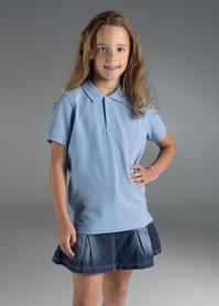 koszulka, polo, promostars, kid, z nadrukiem, z napisem, z twoim nadrukiem, z własnym napisem, błękit, błękitna, błękitne, błękitny, hurt