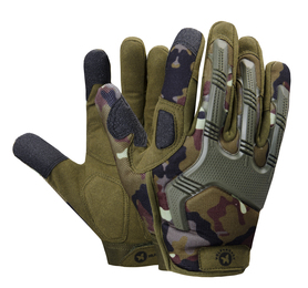 rękawice dla wojska moro czarne wzmacniane, wojskowe ładne, z gumowymi wzmocnieniami, regulowane
