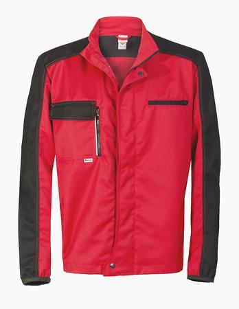 Bluza robocza, dla pracownika od polakiego producenta odzieży roboczej, sportowej, oudoor np polarów, do kupienia w sklepie stacjonarnym i internetowym,do wyboru w dwóch kolorach niebieskim i czerwonym połączonych z czarnym i wypustką lamówką pipingiem pe