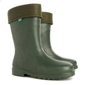 wygodne obuwie (wykonane z materiału EVA) dobrze sprawdzające się zarówno jako miejskie kalosze deszczowe jak i jako obuwie niezbędne do pracy w ogródku i na działce.  Wymienna skarpeta (wkład) skutecznie ociepla stopy w chłodniejsze dni.
