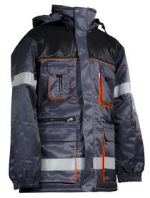 kurtka ocieplana oskar z taśmami szara