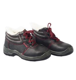 buty ocieplane ochronne skórzane czarne btpuoc art.master