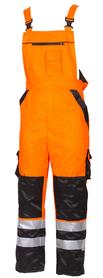 spodnie ogrodniczki  robocze oskar lumi 3 ocieplane pomarańczowo-czarne  z taśmami 3m