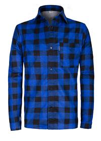koszula flanelowa sobo 100% bawełna produkt polski niebieska