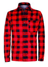 koszula flanelowa sobo 100% bawełna produkt polski czerwona