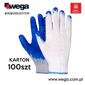 Rękawice Wampirki niebieski KARTON 100 par