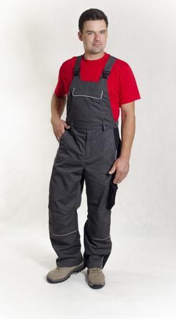 spodnie ogrodniczki zorian szare wega