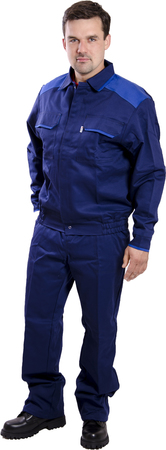 ubranie trudnopalne granatowe ochronne z możliwością naniesienia logo haftem lub nadrukiem,