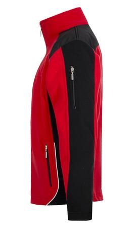 bluza z polaru adrian ii czerwono-czarna