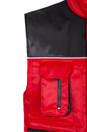 kamizelka robocza ocieplana oskar czerwono czarna