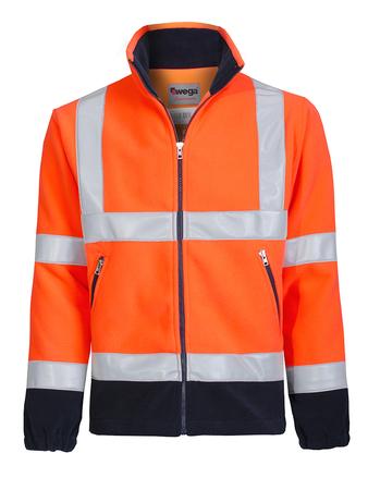 bluza z polaru mars pomarańczowo czarna