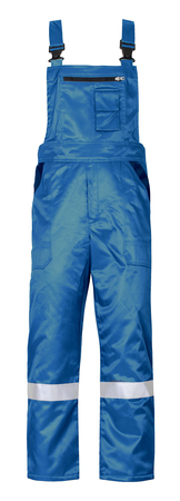 spodnie ogrodniczki oskar robocze ocieplane niebieskie z taśmami