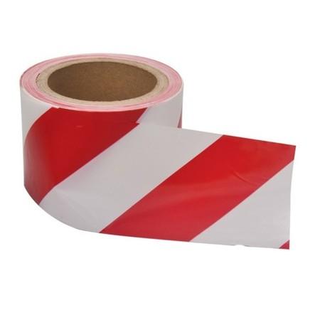TAŚMA OSTRZEGAWCZA PRODUKT POLSKI szerokość:7cm długość: 100 m MOCNA  OPIS TECHNICZNY  Taśma ostrzegawcza biało-czerwona  - długość: 100 m