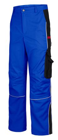 spodnie do pasa niebieskie robocze, ładne do pracy z nakolannikami, wygodne, trwałe, nie rozrywają się w kroku