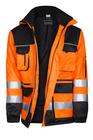 kurtka ocieplana  oskar  lumi 3 z kapturem  z taśmami  3m  pomarańczowo- czarna