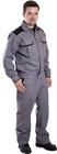 Ubranie robocze szare, spodnie ogrodniczki i bluza z klopmana tkaniny włoskiej, wykończenie niemnące